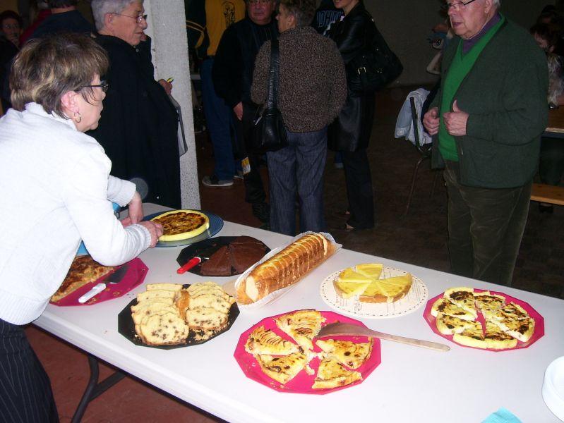Les gâteaux ont été élaborés par le Comité des fêtes