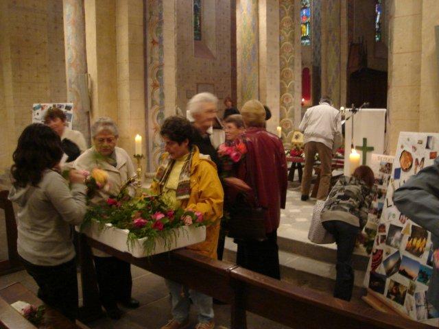 La fête patronale, c'est la célébration de St Genès en l'église de Combronde